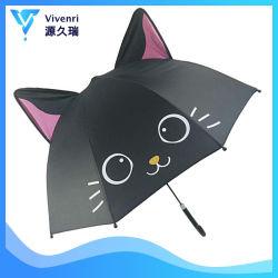 Bleu ciel Elegent Kid parapluie avec lacets Cat
