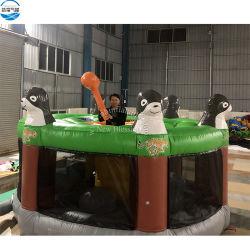 Whack gonfiabile gigante di divertimento interattivo giochi divertenti della talpa dei gatti di sport di rimbalzo combinato gonfiabile adorabile dei giochi