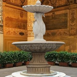 Pierre de marbre sculpté le paysage de jardin Fontaine de l'eau