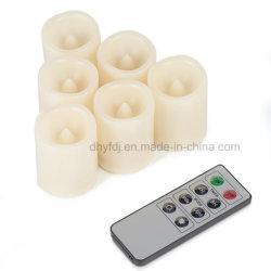 LED малых мерцание восковой чай лампа в форме свечи
