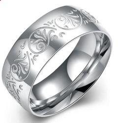 L'Europe Hotsale Mode Bijoux en acier inoxydable 316L de gros anneau de Pattern