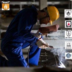 Heiße Verkaufs-Arbeits-Abnützung-Franc-Overall-Schweißer-Klage-antistatische Kleidung ESD-Kleidung