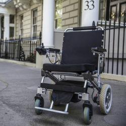 12'' sin escobillas de energía eléctrica plegable médica e silla de ruedas eléctrica con batería de LiFePO4