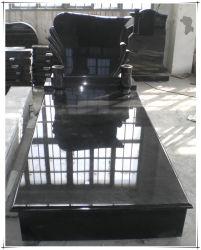 Bornes françaises de cimetière de borne de pierre tombale de monuments de granit de cimetière