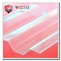 precio de fábrica de la sombrilla de efecto invernadero de plástico transparente de policarbonato corrugado Hoja de techo