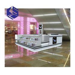 Mall quiosco de la pantalla de cristal de diseño de pantalla cosméticos Perfume Kiosk