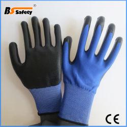 Le Nylon Spandex Gants enduits de lisse de chemise de nitrile/sécurité gant de travail