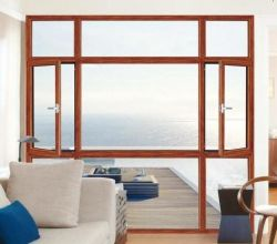 American Style de fenêtre en bois à revêtement aluminium 2017 Top ventes Wangli Fenêtre à battant
