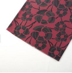 75D 107GSM 100% poliéster Faille tejido de la memoria la memoria de impresión de papel tejido chaqueta