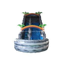 위락 공원을%s 환영 회색 정글 물 미끄럼 팽창식 장난감