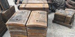 Placa de comprobación realizada por el alto de aleación de manganeso para trituradora de piedra