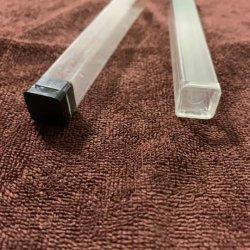 Tubo rettangolare stabilizzato UV del policarbonato libero