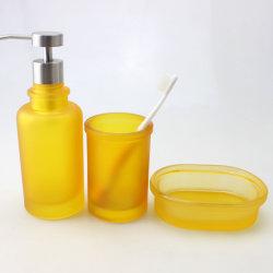 Jaune Boîte à Savon Distributeur de Savon Tumbler Mug brosse à dents titulaire Salle de bains ACCESSOIRES COFFRETS