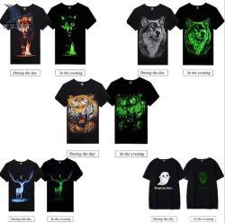 明るいShort-Sleeved印刷された綿のTシャツのRocksir/の石及びロール熱い様式の人のワイシャツのコレクション