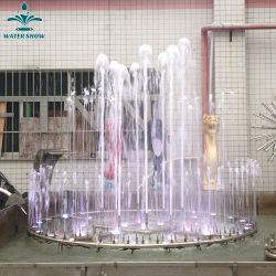 El Hotel Plaza al aire libre de tamaño medio de la música de acero inoxidable Fuente de agua