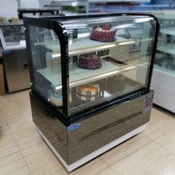1.2M Libre commercial moderne en verre de vitrine à gâteaux permanent gâteau/prix/verre Chiller gâteau Cabinet d'affichage