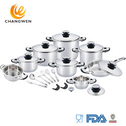 24ПК из нержавеющей стали посуда для приготовления пищи, посудой кухонный комбайн горшки поддоны