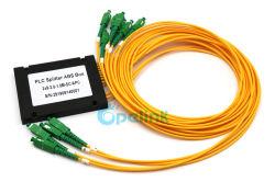 2X9 Divisor de óptica, Caixa de ABS Divisor de fibra SC/APC 3,0mm divisor PLC de Fibra Óptica