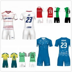 Haut de vendre le Football Sport bleu d'usure uniformes de Soccer Sports Jerseys vierge