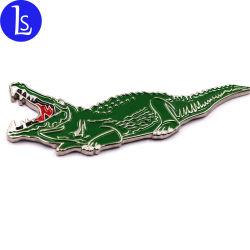 Pinzas de cocodrilo Cocodrilo personalizado imán de nevera de metal para la promoción de Souvenirs Abrebotellas