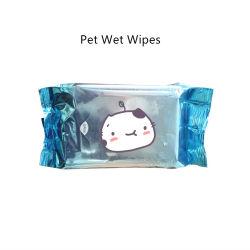 OEM-Pet щенка уход санитарных антибактериальные моющие влажных салфеток для ухода за собой