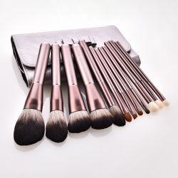 Оптовая торговля 12 ПК высокого качества профессиональной косметики для макияжа набор щеток с женская сумка