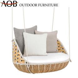 L'extérieur chinois Balcon Jardin meubles en rotin pendaison d'oeufs d'osier Swing Chaire Sun élingue