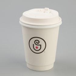أكواب ورقية تموج ذات تموج مطبوع عليها شعار منتج يمكن التخلص منه، جدار واحد/مزدوج/متموج للقهوة