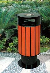 Acciaio e contenitore esterno dei rifiuti dello scomparto residuo dell'immondizia della via di WPC