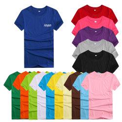 OEM van de fabriek Ronde Hals die van In het groot de Aangepaste Katoenen van de Kwaliteit Mensen Kleurrijke T-shirt, T-shirts, T-shirt, Manier Colthing, het Overhemd van het Polo, de T-shirt van de Manier afdrukken