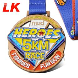 Il metallo promozionale dei prodotti mette in mostra la medaglia di sport di Medallas di inverno