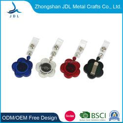 4cm haute qualité Full Metal insigne escamotable bobines Custom de gros de la résine escamotable clé PVC d'un insigne le clip (41) du rabatteur