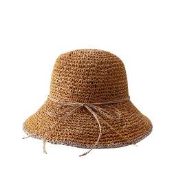 Moda Mujer verano Viajes AL AIRE LIBRE PLAYA Sombrero Quitasol UV Bowknot Sombreros sombrero de paja