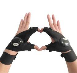 Cool Fingerless светодиодный фонарик перчатки для ремонта, работающих в темноте места рыбалки кемпинг Отдых и развлечения на свежем воздухе