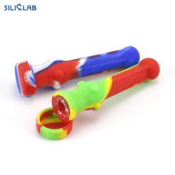 Pijp van de Brander van de Olie van de Tabak van de Kom van het Glas van de Pijp van het Onkruid van het silicium de Rubber Rokende Plastic