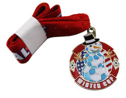 Personalizar la moda antigua Insignia de metal plateado 100lkm Marathon Sport Premio Medalla Medalla de Honor Superior (084)