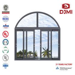 Rundes schiebendes Windows-Schwingen-Netz-Aluminiumineinandergreifen Scereen hing doppeltes örtlich festgelegtes Bifold Niedriges-e Flügelfenster-lamelliertes Glas-Regen-Beweis-Neigung-und Drehung-Sicherheits-Fiberglas-Fenster