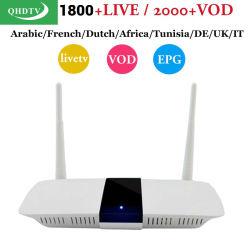 Q11 Quad Core 1080P HD 4K Media Player com 1 ano de assinatura da conta da Europa Qhdtv Spainish francês melhor TV Árabe Android IPTV Caixa de TV