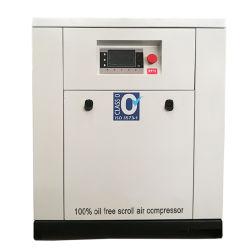 5,5 KW 7HP Mini neutralisée courroie V 100 % exempt d'huile compresseur à air de défilement