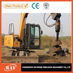 Les excavatrices de la vis de vidange de la terre durable Mini hydraulique machine de forage de la Terre pour pelle à la vente