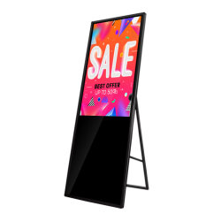 Aiyos 43 بوصة شبكة شاشات LCD التجارية الإعلان الفيديو المحمول ملصق لغرفة العرض