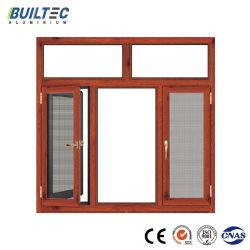 熱絶縁体のステンレス鋼の網が付いているアルミニウム開き窓のWindows