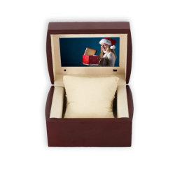 Fournisseur chinois Custom style artificielle Invitation de mariage Vidéo de 2,4 pouces Boîte cadeau d'affaires