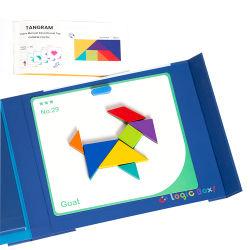 크리에이티브 지글톱 장난감 교육 학습 나무 자기 탄그램 퍼즐 어린이 선물