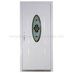 ガラス前部機密保護の鋼鉄ドアが付いている熱い現代正面玄関の頑丈なカスタム金属のドア