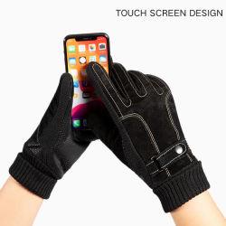Lederen touchscreen Winterhandschoenen voor buiten
