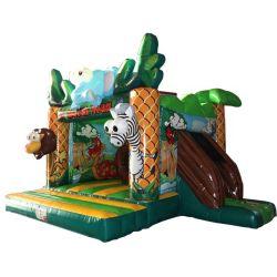 Deer Cartoon Bounce Faites glisser Chambre Château Gonflable (AQ01525)