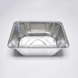 뜨거운 알루미늄 호일 테이드 어웨이 음식 용기 점심 상자