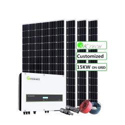 По-Grid 15квт электрической мощности солнечной системы с помощью категории панелей солнечных батарей