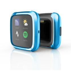 Водонепроницаемый смотреть крышки картера Smart оцинкованные TPU чехол для Fitbit наоборот с защитная пленка для экрана